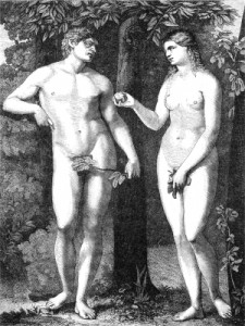 Adam and Eve in Fall of Man